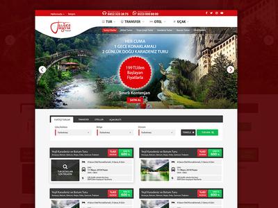 Tuğra Turizm - Ordu company design ux theme wordpress photoshop