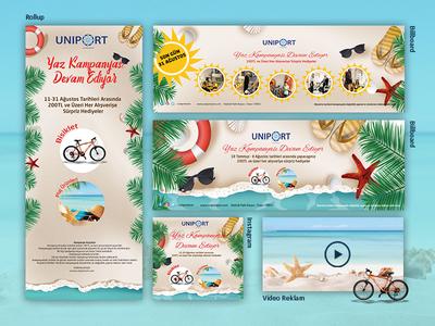 Yaz Kampanyası Çalışmaları - Uniport AVM instagram for video instagram rollup video design billboard illustration photoshop