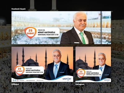 Nihat Hatipoğlu Konferansı - Uniport Avm Ordu billboard illustration photoshop
