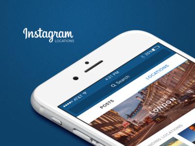 Instagram - Locations (Concept)