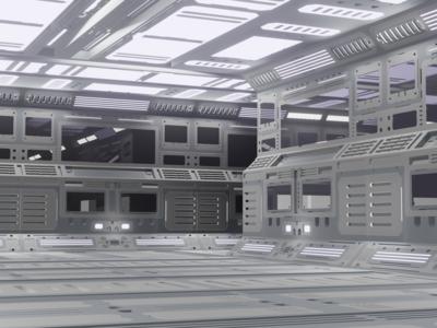Just your standard spaceship corridor