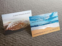 Business cards for a personal life coach