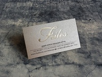 Business cards with gold foil for an accountant's firm