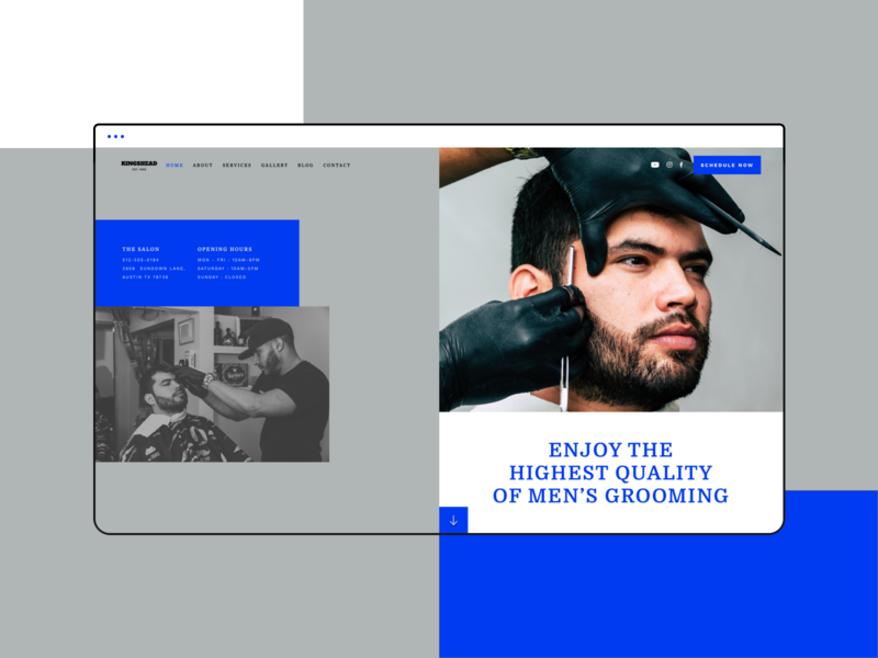 Barber Shop Website Design (Template Kit) logo design graphicdesign websitedesign website userinterface web webdesign ux ui