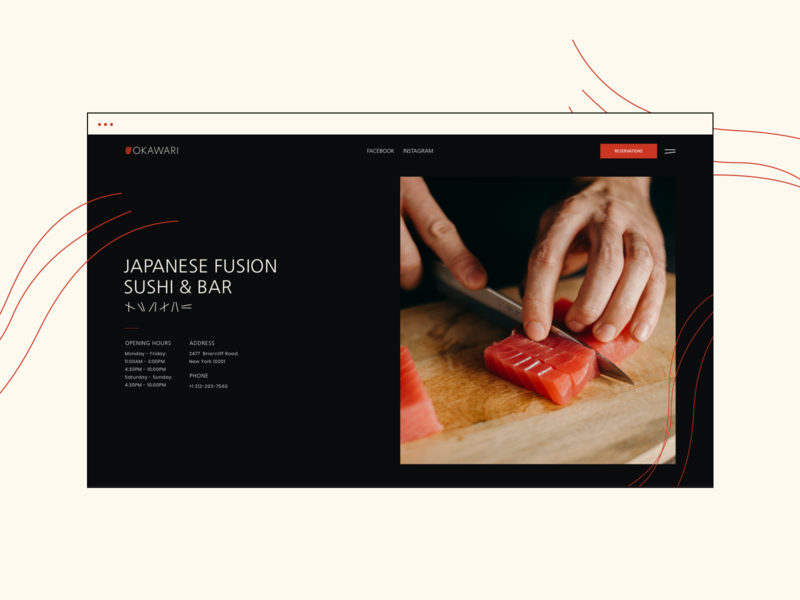 Japanese Restaurant Website Design (Template Kit) graphicdesign websitedesign mobile web userinterface userexperiance ux ui japanese restaurant webdesign website