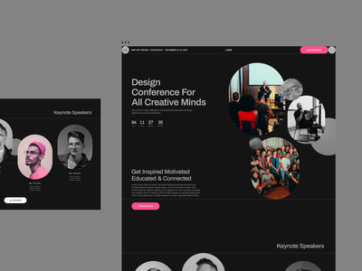 Design Conference Website Design Concept websitedesign ui ux design graphicdesign web webdesign userinterface userexperiance website