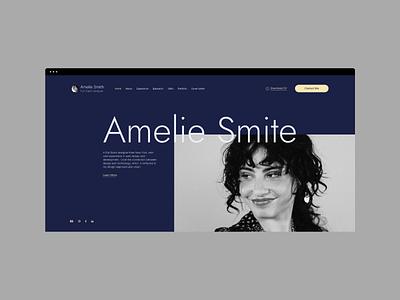 Portfolio Website Concept Design websitedesign webdesign website userexperiance userinterface cv portfolio ui ux design graphicdesign
