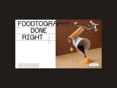 Food Photography Website Design Exploration webdesign userinterface userexperiance web websitedesign website food graphicdesign design ux ui