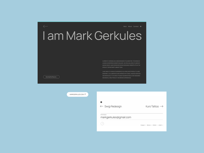 Portfolio Website 2021 - Mark Gerkules graphic design typography minimal minmalist websitedesign webdesign portfoliowebsite portfolio branding logo illustration userexperiance website userinterface graphicdesign design ux ui