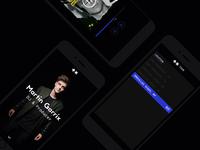 Martin Garrix Website Responsive for mobile