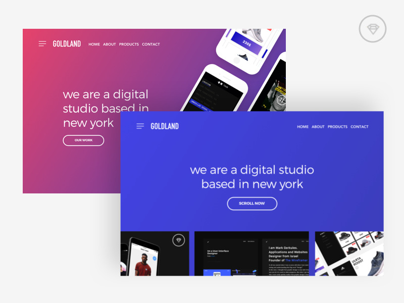 Goldland Pages Available for Sale 🎊 🎉 graphics design graphicdesign websitedesign sketch webdesign website uidesign uxdesign ux ui uikit