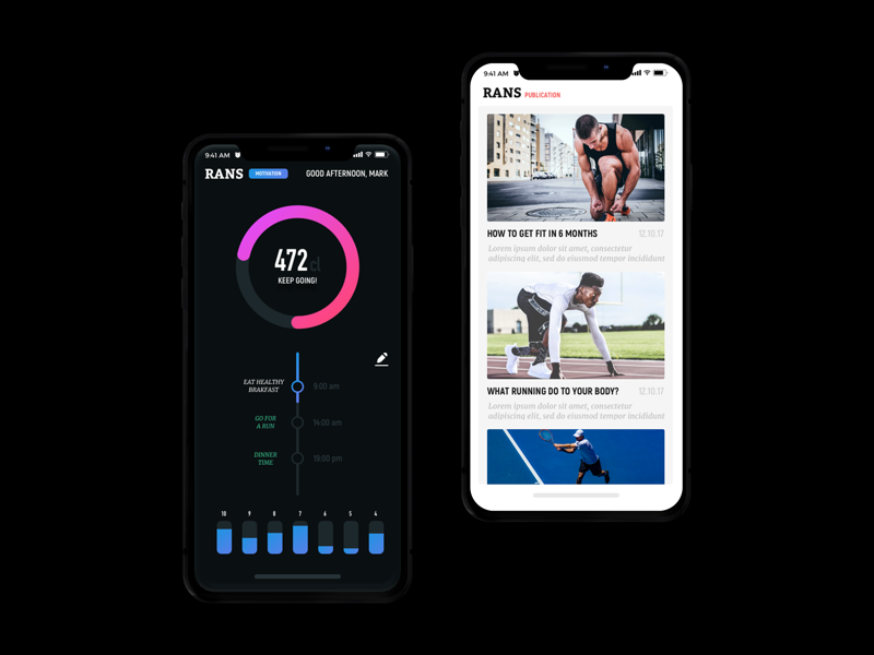 Fitness App Concept Design website webdesign web ux userinterface ui sport mobile iphonex graphicdesign fitness design
