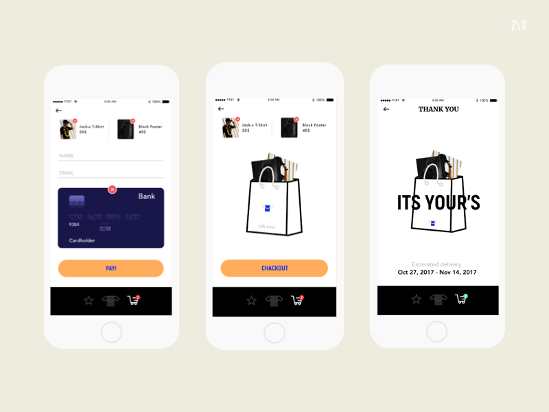 Wrabe Clothing Shopping bag ui ux userinterface userexperiance mobile iphone mockup design graphicdesign app appdesign