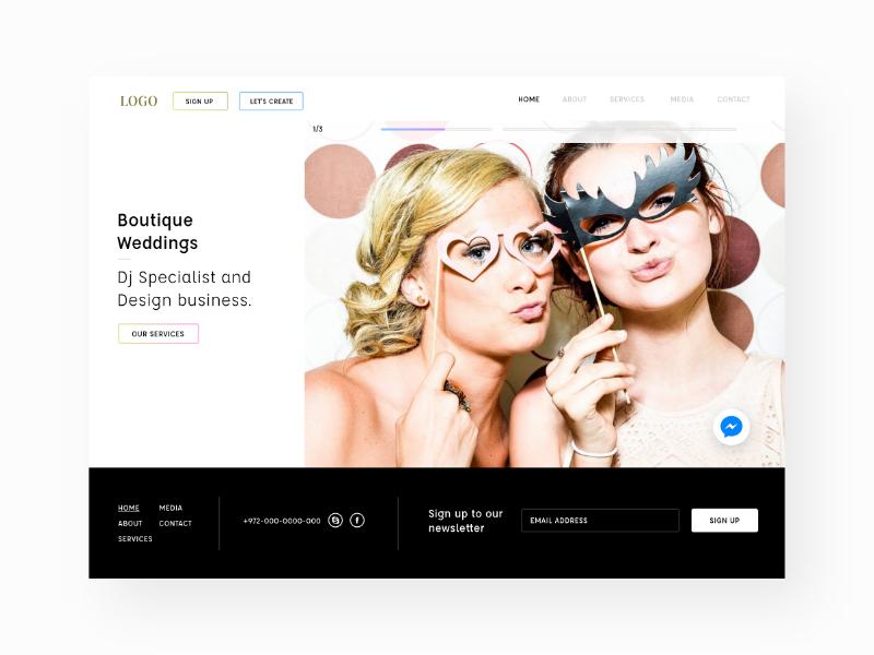 Design Concept for Boutique Weddings Co. logo app mobile userexperiance graphicdesign userinterface ux ui website webdesign design web
