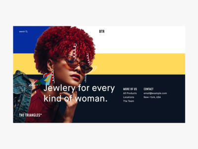 Website Concept For Jewelry Store