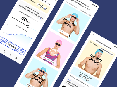 Swimmer App Design Concept ui ux design userinterface mobile graphicdesign appdesign app userexperiance typography graphics cool