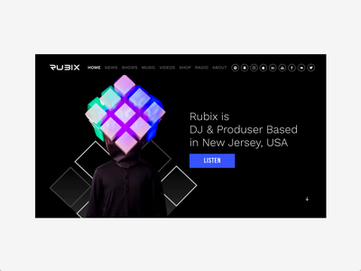 Rubix Website Design homepage websitedesign web webdesign userexperiance website mobile userinterface design ux ui graphicdesign