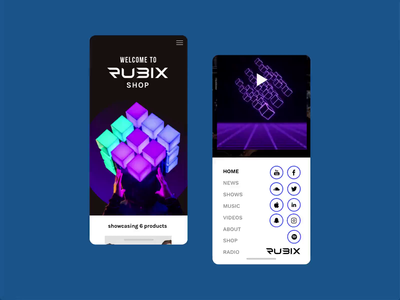 Rubix Responsive Website Design graphicdesign ui ux design userinterface mobile website userexperiance webdesign web websitedesign homepage