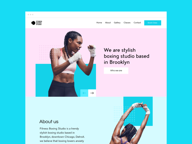 Fitness Boxing Studio - Website Design Concept branding websitedesign web webdesign userexperiance website userinterface design ux ui
