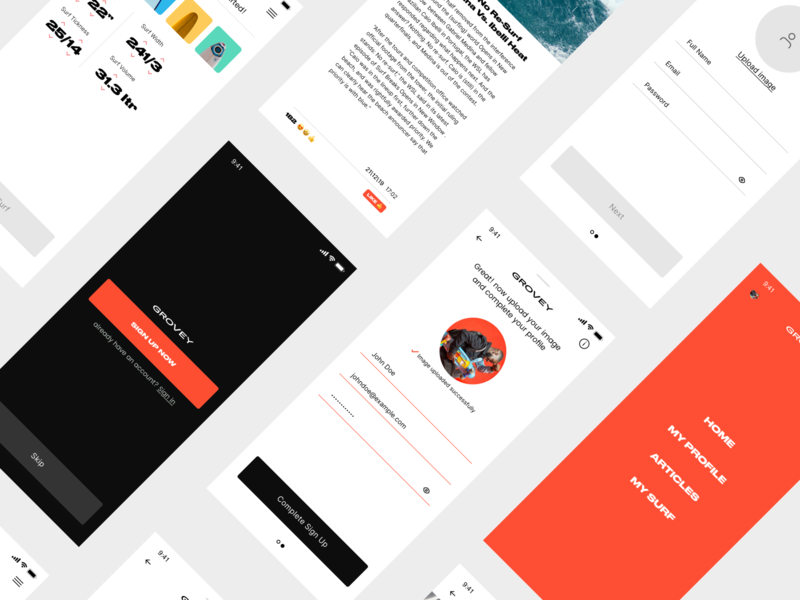 Grovey UI KIT - IOS 20+ Screens ios uikit appdesign app mobile userexperiance userinterface design ux ui