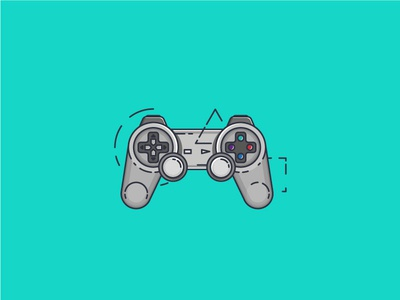 Play! gameconsole game illustration icon graphicdesign stroke outline flat flaticon flatdesign