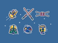 Star Wars doodle Icons