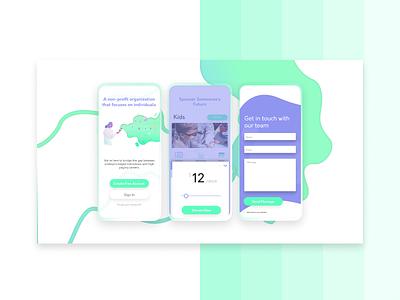 Dfuture typography illustration branding design app mobile ui