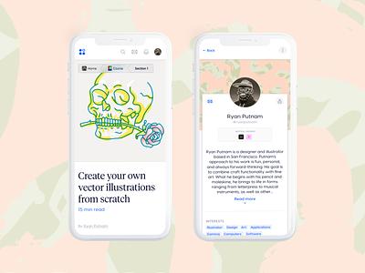 Learna mobile web app mobile website webdesign ryan putnam ux illustration uidesign ui uiux