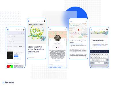 Learna mobile UI uiux ryan putnam mobile website mobile web app illustration