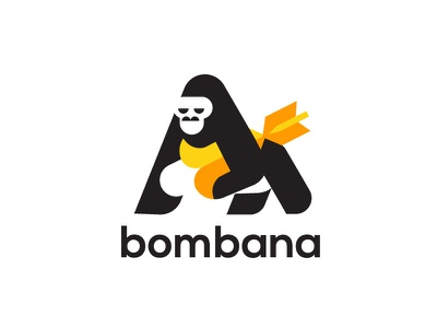 Bombana V1 flat vector typography design icon illustration logotype logo branding