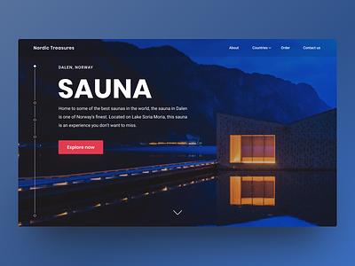 Saunas i Norway design sauna web norway graphic design ui