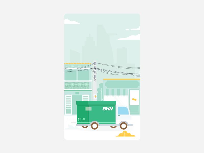 GHN vector design icon illustration
