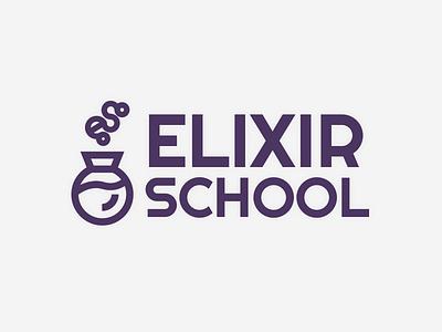 Elixir School Logo (TWT) elixir school code logo branding