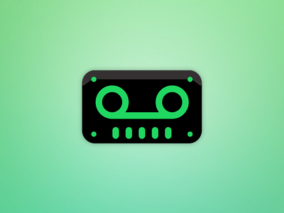 TapeBot Spotify Icon fresh neon green tape spotify icon