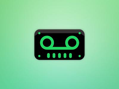 TapeBot Spotify Icon fresh neon green tape spotify icon