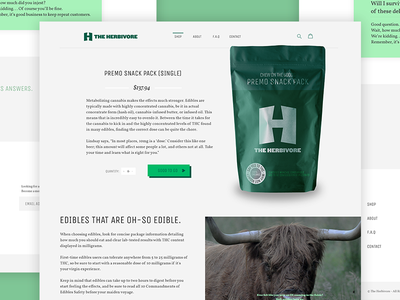 The Herbivore - Product Page web treats tasty theme shopify landing product herbivore herb green design