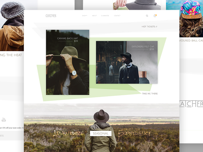 Catcher - Shopify Theme (Home) theme shopify clean minimal tasty design web hats catcher