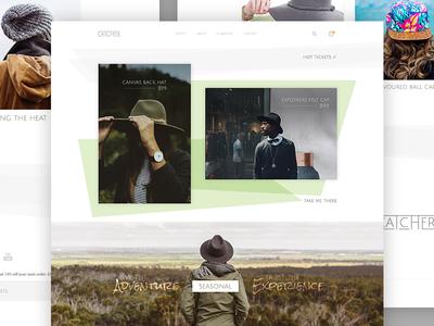 Catcher - Shopify Theme (Home) theme shopify clean minimal tasty design web hats catcher