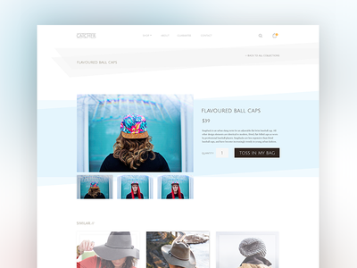 Catcher - Shopify Theme (Product) web theme tasty shopify minimal hats design clean catcher