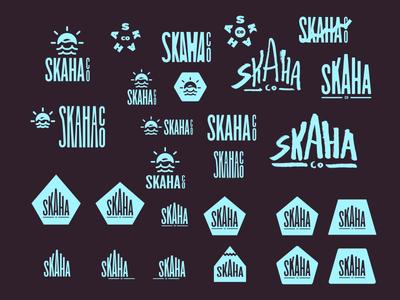~ Skaha Co (wip) skyblue cheesy dangerously coastal skaha freshness logo decisions branding