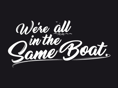 """""""We're all in the Same Boat"""" Mural"""