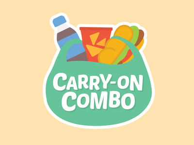 Carry- On Combo 02 combo travel carry-on build bag chips food snack drink brand logo