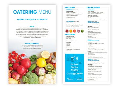 Catering Menu airport midway chicago handheld veggies fruit simple clean menu produce catering