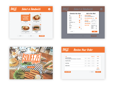 Self Order Kiosk pop color clean food engagement interaction user kiosk order self