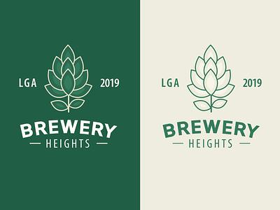 Brewery Heights hopps branding beer branding brewery logo lga heights beer brew brewery
