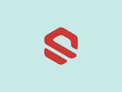 hex—agon hexagon shape mark logo red focus lab wip simple