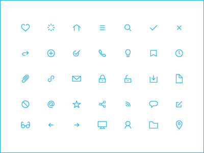 communication icons icons focus lab thin stroke simple blue expression
