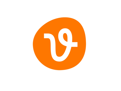 Vecteezy ✴️ motion vector vecteezy path v orange icon identity mark brand logo