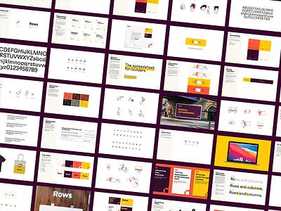 Rows Brand Guidelines monogram r icon figma guidelines design typography identity mark brand logo spreadsheet rows