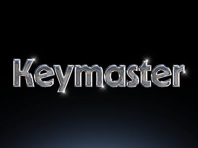 Keymaster brand type design typography identity custom logo chrome game keymaster